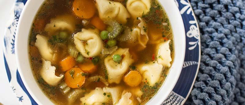 Tortellini harvest soup